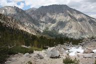 Onion Valley, along trail from campground to Robinson Lake, Inyo National Forest, California